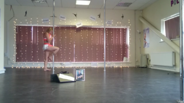 Kerry-Louise Practice Pole Dancing Routine Pole Work